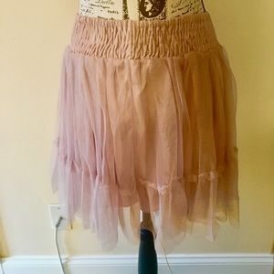Beautiful dusty rose colored tulle skirt